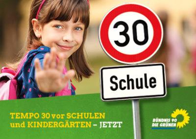 Tempo 30 vor Schulrn und Kindergärten!