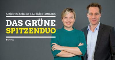 Katharina Schulze und Ludwig Hartman, das Bayerische Spitzenduo zur Landtagswahl