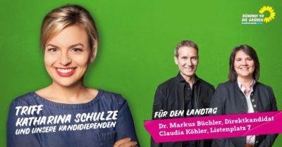 Banner Ktharina Schulze, Markus Büchler, Claudia Köhler