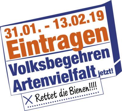 Banner Eintragungsfrist Volksbegehren