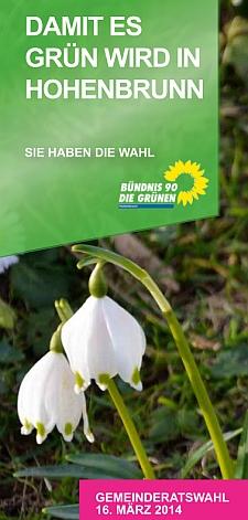 """Flyer """"Damit es grün wird in Hohenbrunn"""""""