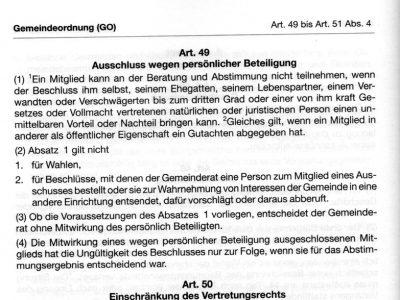 Bayerische Gemeingeordnung Art. 49