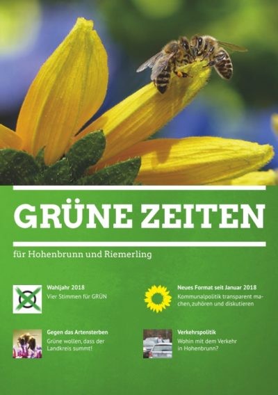 Titelblatt Grüne Zeiten 1/2018