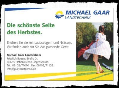 Ausriss Hohenbrunner Gemeindeblatt, Oktober 2016