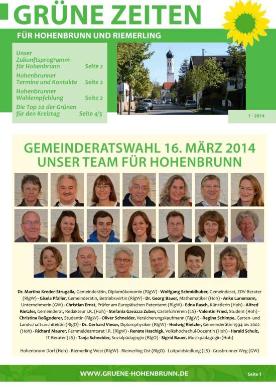 Grüne Zeiten 2014/1
