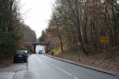 Unterführung Luitpoldstraße von Osten