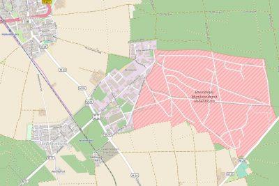 Gebiet der ehemaligen MUNA - Karte OpenStreetMap