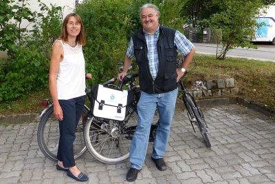 Stadtradler-Stars Hohenbrunn 2017: Gisela Pfaller und Wolfgang Schmidhuber