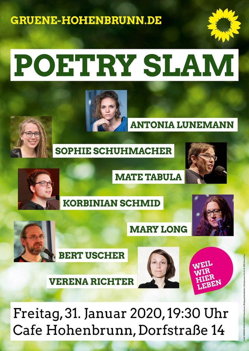 Veranstaltungsplakat Poetry Slam
