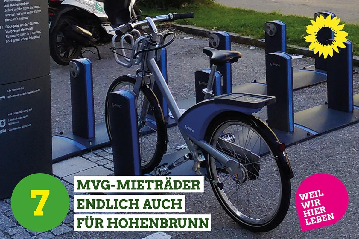 MVG-Rad an der Station