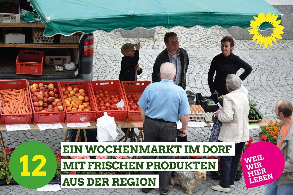 Stand am Wochenmarkt