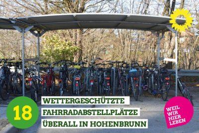 Fahrradständer mit Dach