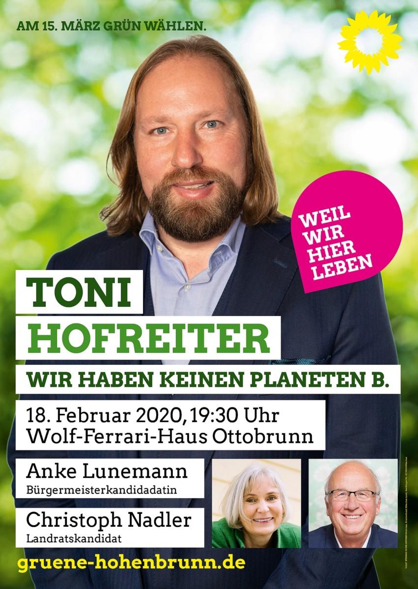 Plakat Toni Hofreiter