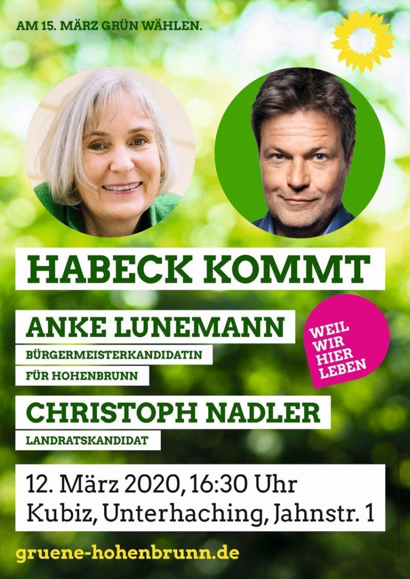 Plakat Habeck Lunemann