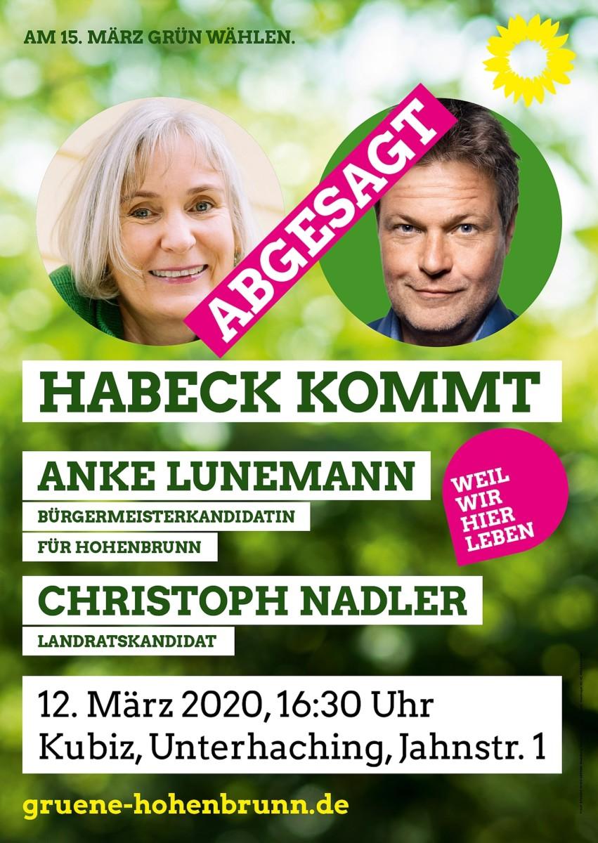 Habeck Veranstaltung abgesagt