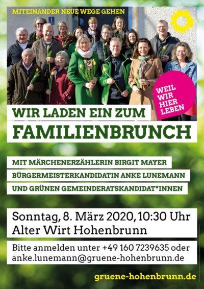 Plakat Familienbrunch