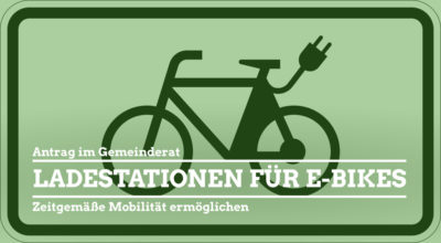 Sharepic Symbol E-Bike-Ladestation