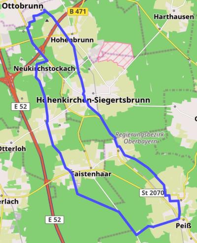 Route hoehenkirchen-duerrnhaar-aying-peiss-hofolding-brunnthal