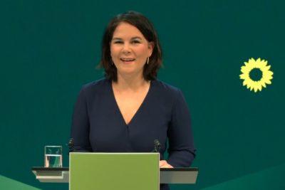 Annalena Baerbock bei der Verkündung ihrer Kandidatur