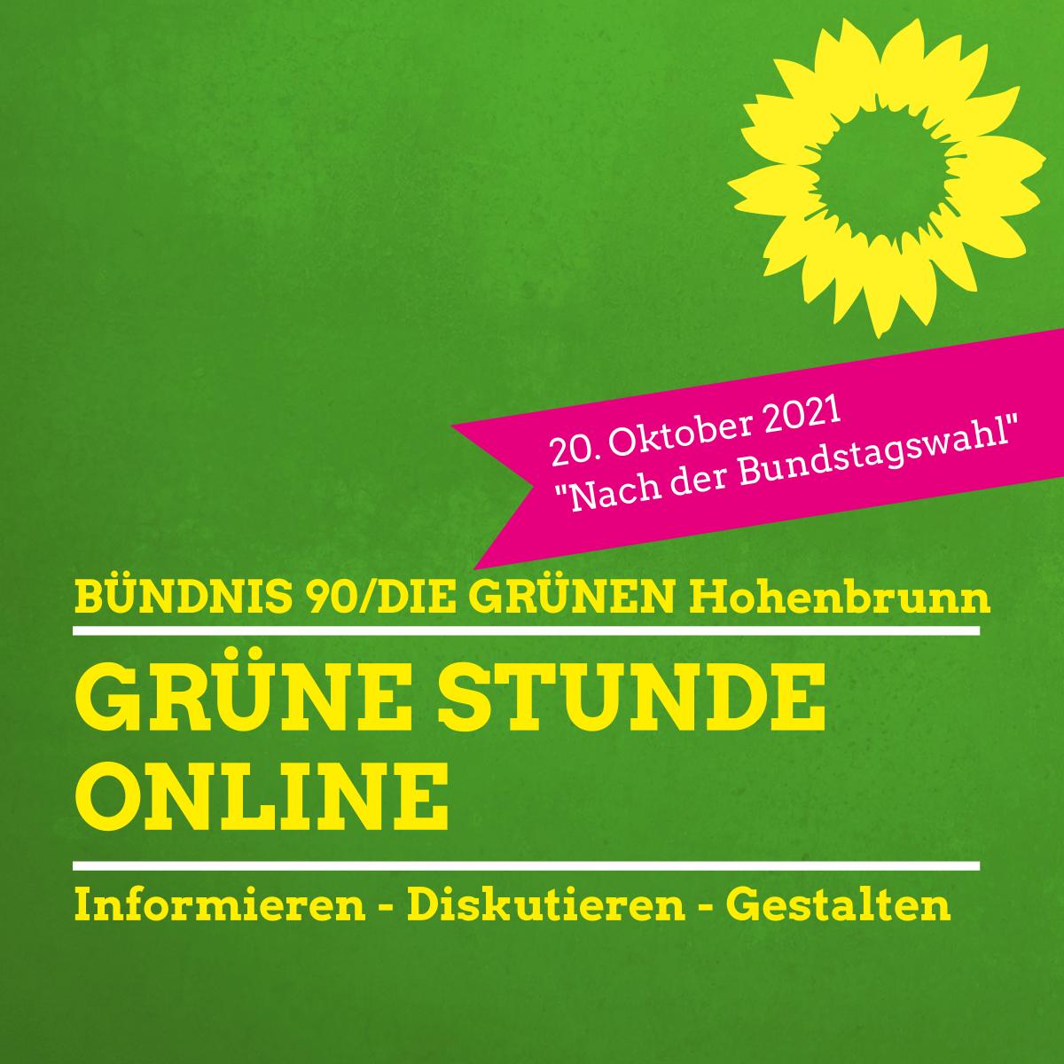 GRÜNE STUNDE online